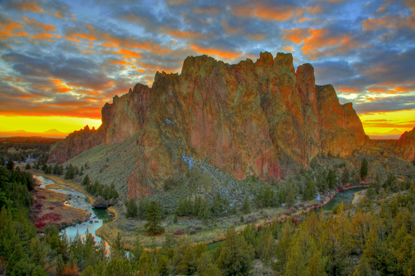 Smith Rock State at sunset, near Terrebonne, Oregon.