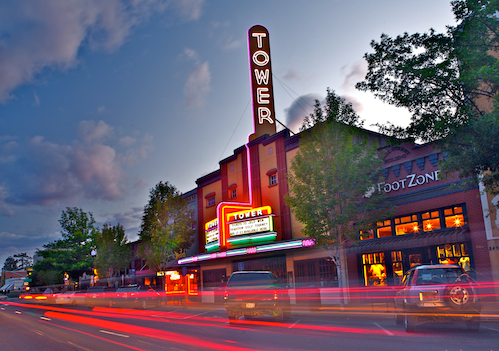 Photo of the Tower Theater in downtown Bend, Oregon