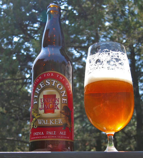 Union Jack IPA by Firestone Walker Brewing Company in Paso Robles, California