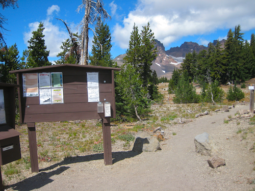 Broken Top Trail head as seen in the Deschutes National Forest of Central Oregon.