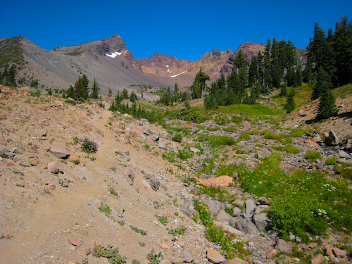 Trail into Broken Top's Craters in the Three Sisters Wilderness