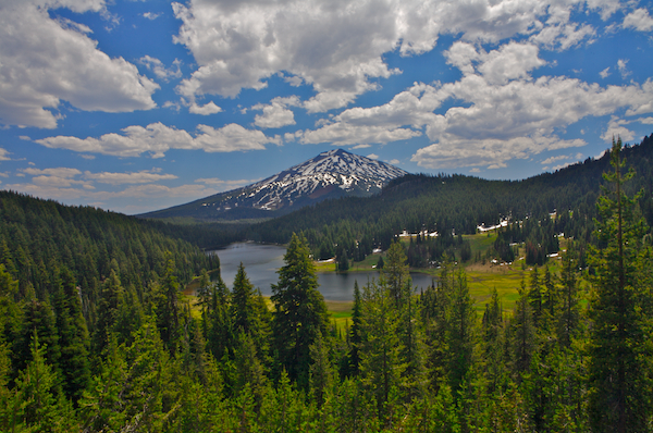 Photo of Mt. Bachelor with Central Oregon's Todd Lake in the mid ground