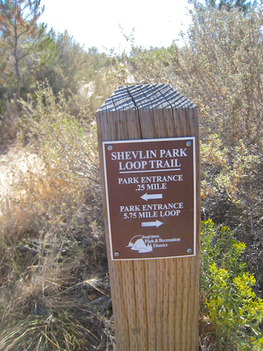 Shevlin Park sign, continue the 5.75 miles back to the parking lot!