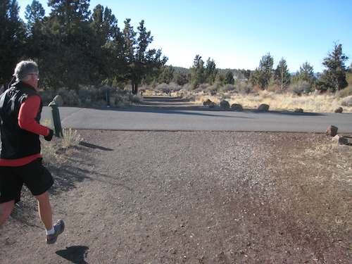North Cliff drive located about 2.5 miles from the First Street rapids and the unofficial start of this section of the Deschutes River Trail