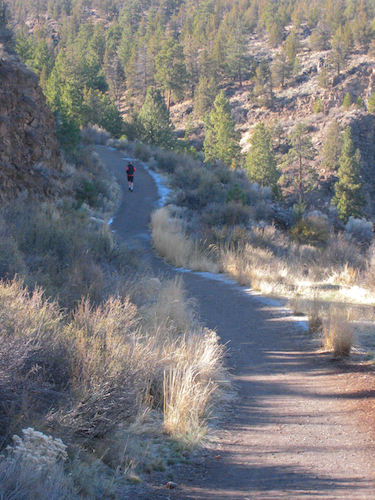 The river trail high above the Deschutes River Canyon on the flanks of Bend's Awbrey Butte
