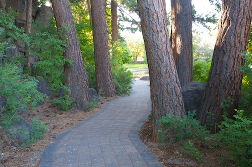 Path in Pioneer Park, Bend, OR.