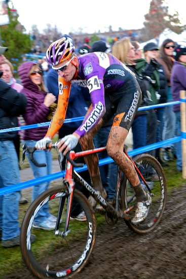 Ryan Trebon of Bend, Oregon riding in the 2010 Cyclocross National Championships